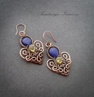 earrings with lapis lazuli by nastya-iv83