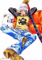 Trafalgar Law and Bepo by Jaenelle-20