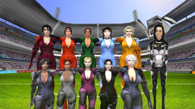 Battlesuit Battalion Football Team by Stylistic86