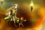 Laerophen and Gimizh by genayre