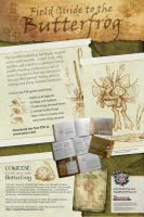 Field Guide to the Butterfrog Adv Poster by butterfrog