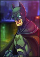 Arkham Batman by ubegovic