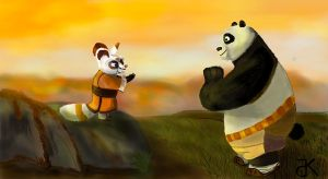 Day-spring Po and Shifu by bk-kam