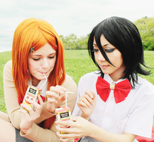Orihime and Rukia juice by KaniDay