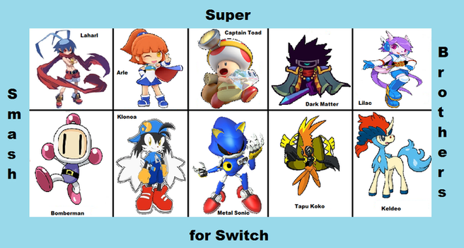 Another Top 10 Characters for Smash Bros by BlueCola101
