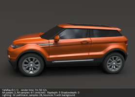 Range Rover evoque sideview by koleos33