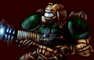 doom guy by Reienkyo22