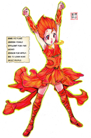 First, The Heroes: Fio Flare by Microblonde