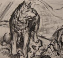 Still life Wolf by kaizer33226