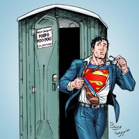 Superman on the go! by staino