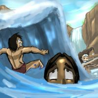 Avatar water fight by Erikonil