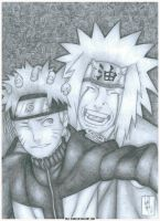 Naruto and Jiraiya by Beelthand