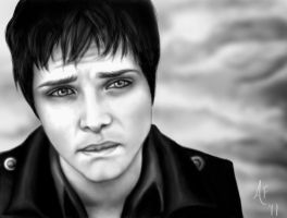 Another Painting of Gerard Way by Amber13