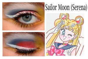 Moon Makeup: Sailor Moon by nazzara