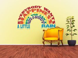 Everybody Wants Happiness Wall Decal by GeekeryMade