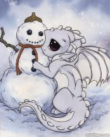 Snow Dragon by MistiqueStudio
