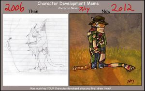 Character Development Meme with 7oby by Tobizord