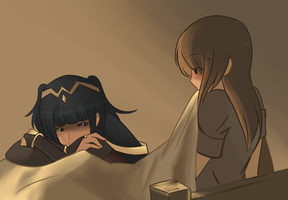 Tharja watches you sleep by Roos-Vicee