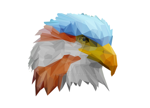 Low Poly Eagle (Print Now Available) by Nibbink