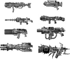 Weapon Drawings by juanosarg