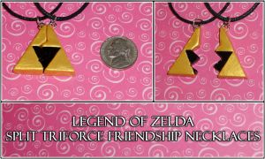 Zelda - Split Triforce Friendship Necklace Set by YellerCrakka