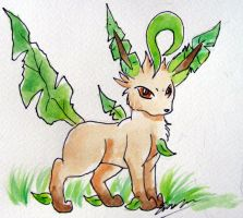 Leafeon Angry by Emakura