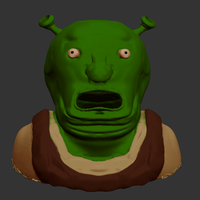 3D shrek (high quality) by Ntuni
