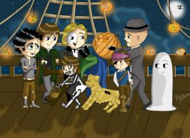Trick or treat on board by Pridipdiyoren