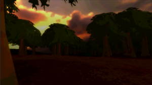 Pixelated Forest with paths WIP #02 in Unity 3D by Ratmanxx