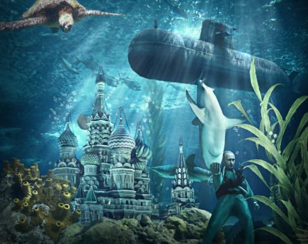 St. Basil's Cathedral Underwater by simdragon90