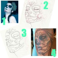 From painting to tattoo by Electricalivia
