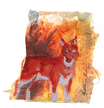 Collage Ethiopian Wolf ACEO by Redwall151