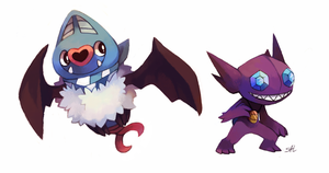 Commission: Swoobat n Sableye