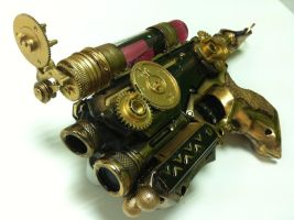 Steampunk Firestrike NERF Pistol by Crimson-Shirou