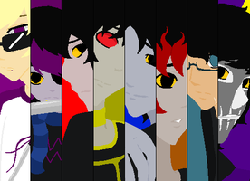 Homestuck Male characters by Angel434