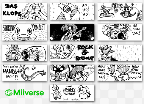 Miiverse Doodles #1 by mkbest