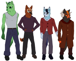 Canid Height Comparison Chart by YuPuffin