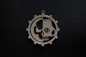 Stainless steel Warhammer40k Mechanicus pendant by Snoopyc