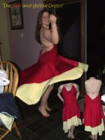 The Red and Yellow Dance Dress by eva44