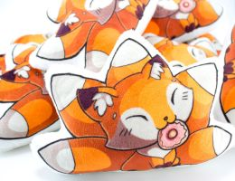 Fox Pillow 1 by BeeZee-Art