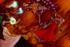 Touhou -- Hell Battle by static-mcawesome