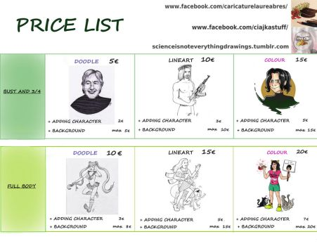 Price list by Ciajka