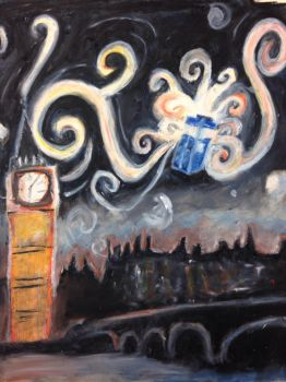 Starry Night over London by TheDrumMajor