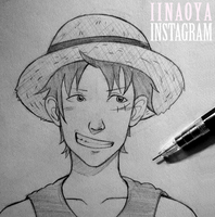 (One Piece) Luffy by OrangeJuiceOnABoat