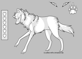 free wolf ref sheet by golden-wolfox