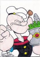 POPEYE SKETCH CARD by JayFosgitt