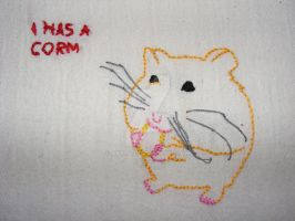 lolcat embroidery 2 - hamster by Akki14