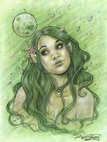 Spring Moon by delphineart