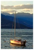 Lake Como Boat by PatrickTCPope