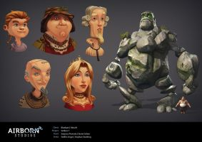 Airborn Portfolio Characters by polyphobia3d